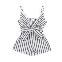 YOUNGER TREE Baby Girl Striped Romper Jumpsuit Newborn Kids Sleeveless Overall Shorts Bodysuit Summer Clothes