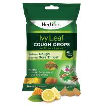 Herbion Naturals Cough Drops with Ivy Leaf, Thyme & Licorice Extracts – 25 Drops – Herbal Expectorant – Relieves Cough, Sore Throat & Bronchial Irritation – for Adults & Children