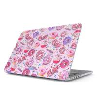 Glitbit Hard Case Cover Compatible with MacBook Pro 15 Inch Case Release 2016-2018, Model: A1990 / A1707 with Touch Bar Donut Worry Be Happy Cupcake Sweet Sin Guilty Food Sprinkle Doughnut Rip Diet