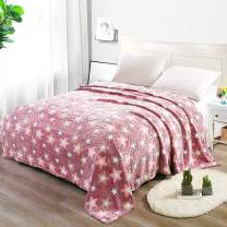 i-baby Home Blanket Large 3D Flannel Fleece Throw Blanket for Bedding & Sofa Couch | Super Soft Star Pattern Decorative Throw | Warm Cozy All Season Bedspread (Star Rose, Full Size, 60 x 80 Inch)