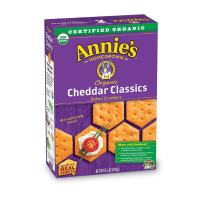 Annie's Organic Cheddar Classic Baked Crackers (Pack of 6)