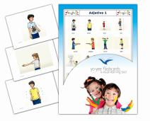 Yo-Yee Flashcards Tarjetas de vocabulario - Adjetivo 1 - Adjectives Picture Cards in Spanish for Toddlers 2-4, Kids, Children and Adults