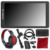 """FEELWORLD F570 5.7"""" IPS Full HD On-Camera Monitor - Deluxe Accessory Bundle with Battery and Charger + Magic Arm & More"""