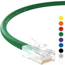 InstallerParts Ethernet Cable CAT6 Cable UTP Non-Booted 4 FT - Green - Professional Series - 10Gigabit/Sec Network/High Speed Internet Cable, 550MHZ