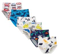 CHUNG Toddlers Little Boys 2-9Y Cotton Briefs Underwear Pack of 5/6 Car Dinosaur