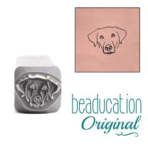 Dog Face Metal Design Stamp, 8mm Puppy Doggy Canine Head Punch Stamping Tool for Hand Stamped DIY Jewelry Crafts - Beaducation Original Metal Design Stamps