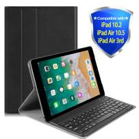 Lapogy iPad 10.2 2019 Keyboard Case,7th Generation,Include Detachable Wireless Bluetooth Keyboard with Magnetically Auto Sleep/Wake Leather Tablet Cover,for iPad 10.2,iPad Air 10.5,iPad Air 3rd,Black