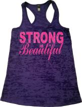 Womens Workout Clothes - Strong is Beautiful - Zumba Burnout Tank Tops
