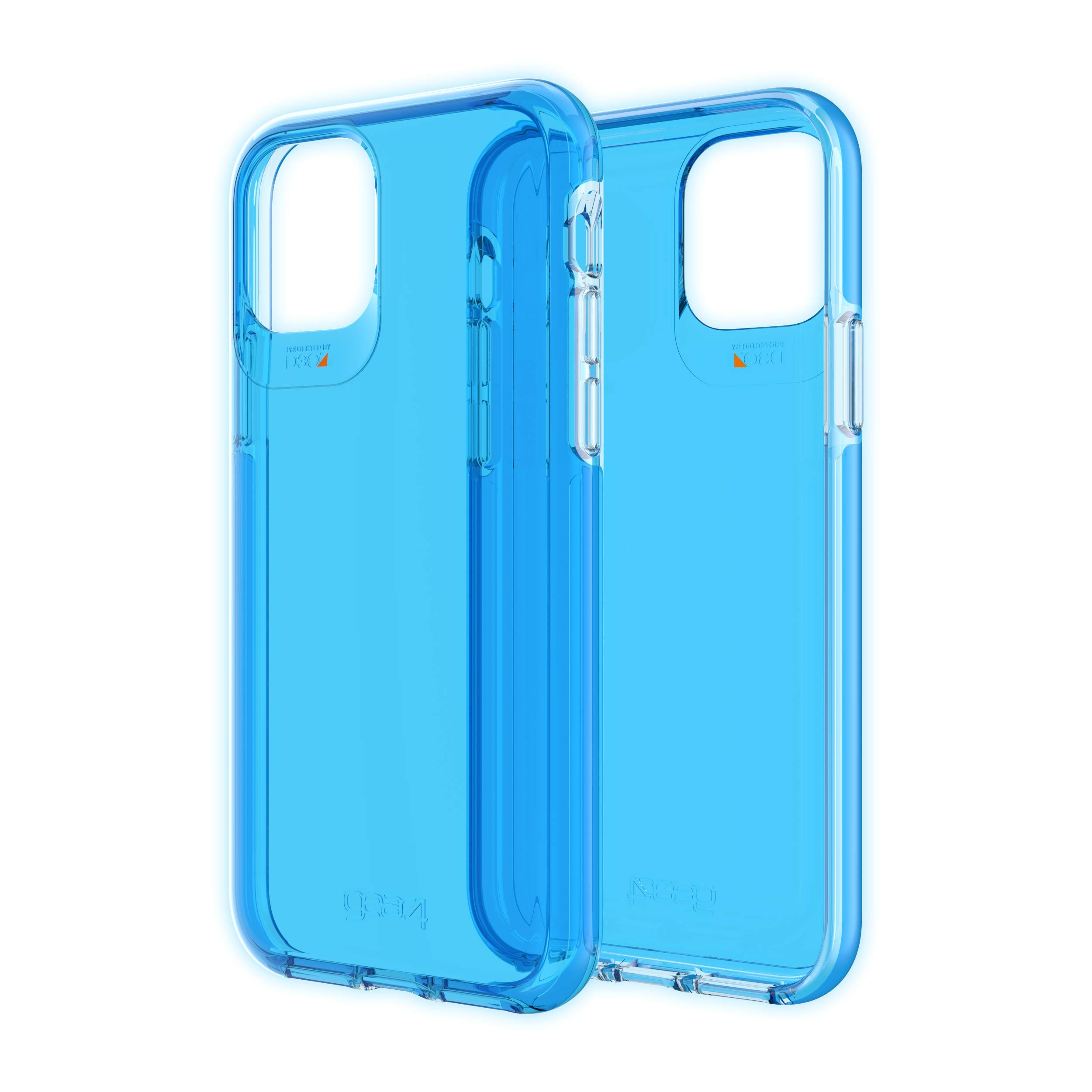 GEAR4 Crystal Palace Neon Compatible with iPhone 11 Pro Case, Advanced Impact Protection with Integrated D3O Technology, Anti-Yellowing, Phone Cover – Neon Blue