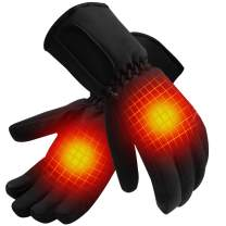 Battery Operated Heated Gloves,Electric Heater Hand Warmers for Cold Weather,Men Women Outdoor Recreation Heat Gloves for Hunting Fishing Skiing
