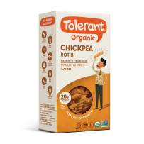 Tolerant Organic Gluten Free Chickpea Rotini Pasta, One 8 Ounce Box, Plant Based Protein, Vegan Pasta, Single Ingredient Protein Pasta, Whole Food, Clean Pasta, Low Glycemic Index Pasta