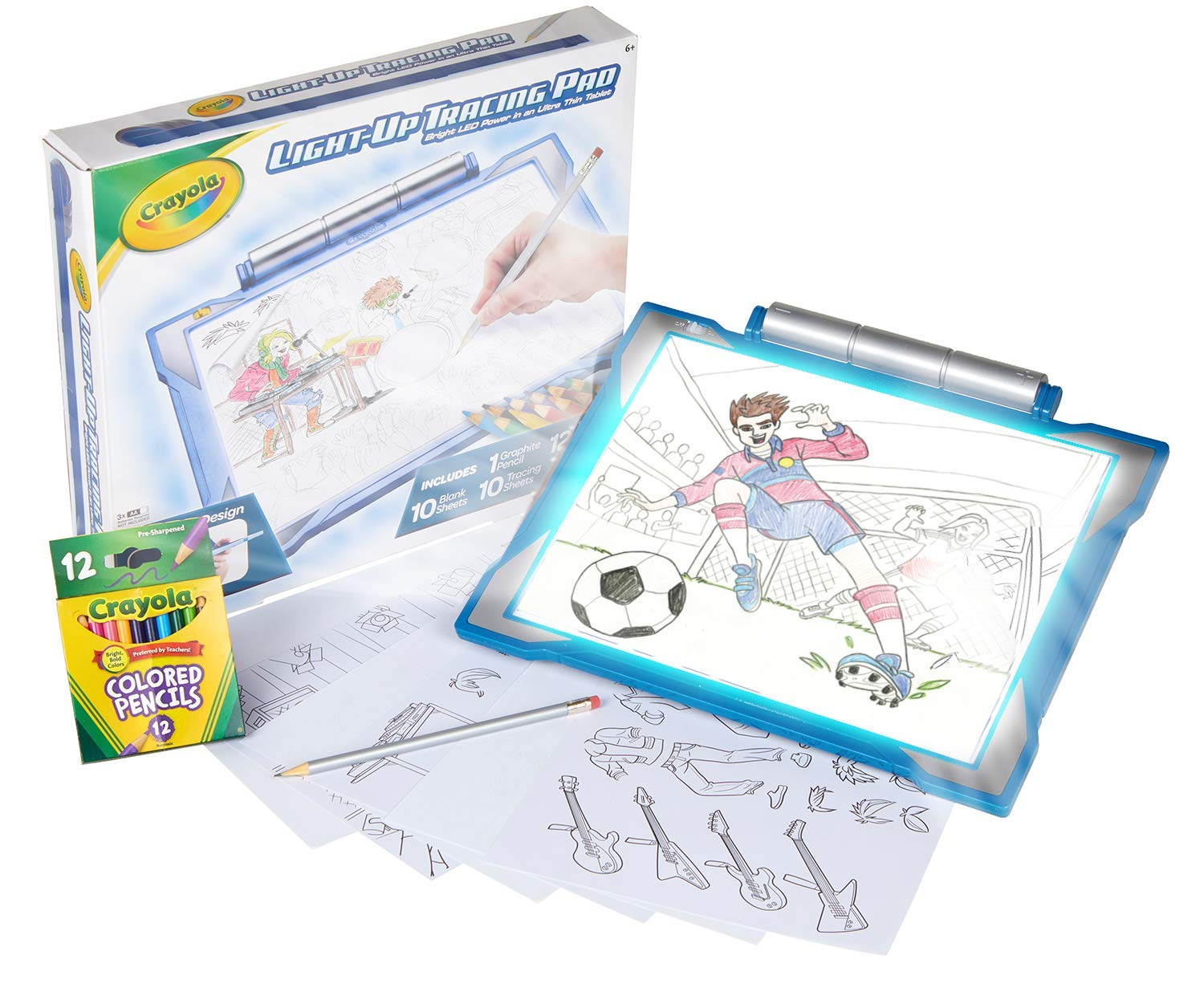 Crayola Light Up Tracing Pad Blue, Amazon Exclusive, Toys, Gift for Boys, Ages 6, 7, 8, 9, 10