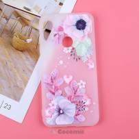 Cocomii 3D Flower Translucent Xiaomi Mi A2 Lite/Redmi 6 Pro Case, Slim Thin Matte Soft TPU Silicone Rubber Gel 3D Silicone Floral Bumper Cover for Xiaomi Mi A2 Lite/Redmi 6 Pro (Watercolor Flowers)