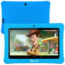 """[Upgraded] Contixo K1 HD 7"""" 6.0 Android Tablet for kids, Bluetooth WiFi Dual Camera Parental Controls for Children with Durable Protection Case, Pre-Installed Learning Games & Education Apps (Lt Blue)"""