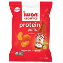 IWON Organics Tapatio Limon Flavor Protein Puff, High Protein and Organic Healthy Snacks, 8 Bags