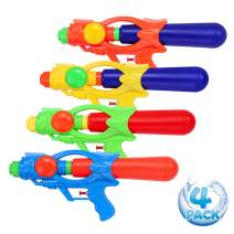 YouCute 13 inch Water Gun 4 Pack Summer Squit Blaster Swimming Pool Toys Outdoor Indoor Beach Party Favors Fighting for Kids Adult
