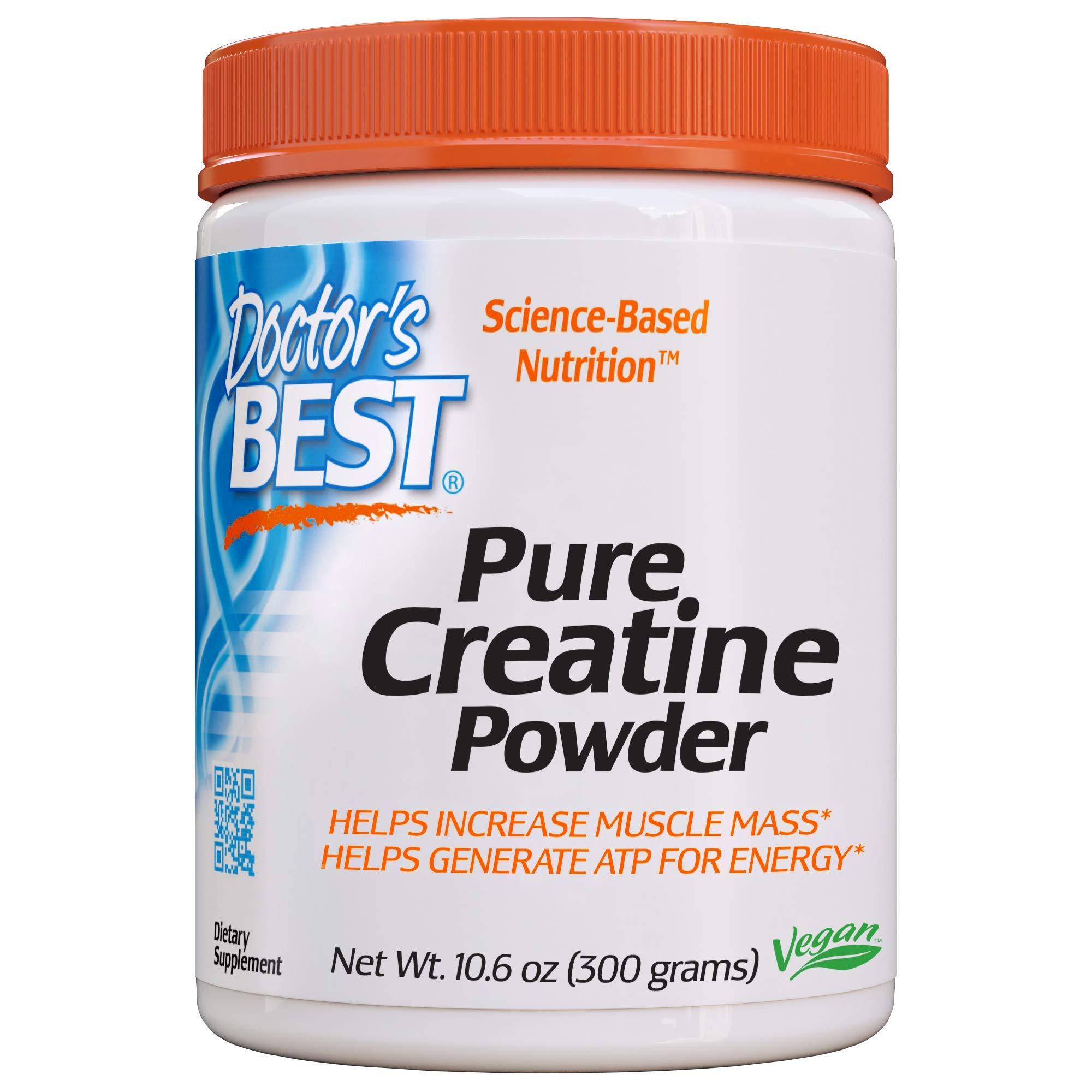 Doctor's Best Pure Creatine Powder, Non-GMO, Vegan, Gluten Free, 300g