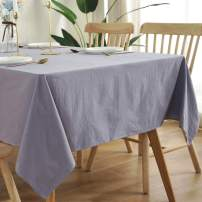 Bringsine Washable Cotton Linen Solid Design Tablecloth,Rectangle Table Cloth Cover for Kitchen Dinning Tabletop Buffet Decoration(Rectangle/Oblong, 55 x 70 Inch,Grey)