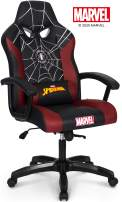 Marvel Avengers Spider-Man Big & Wide Heavy Duty 330 lbs Gaming Chair Office Chair Computer Racing Desk Chair Red Black - Endgame & Infinity War Series, Marvel Legends