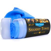 """Mighty Cleaner Premium Сar Sammy Towel - 26"""" x 17"""" - Super Absorbent Chamois Cloth for Car - Blue Car Drying Towel"""