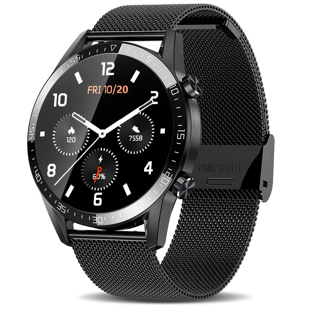 ATGTGA Smart Watch for Android iOS Phones (Make/Receive Calls,1.3Inch,Double Mode) 10 Sports Mode Fitness Tracker,Sleep Tracker,Notification Reminder,SmartWatch for Men
