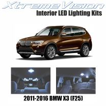 XtremeVision Interior LED for BMW X3 (F25) 2011-2016 (20 Pieces) Cool White Interior LED Kit + Installation Tool