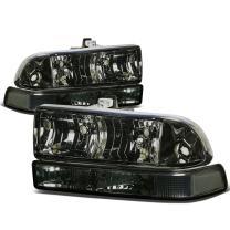 DNA Motoring Smoked clear HL-OH-S10984P-SM-CL1 Headlight Assembly (Driver & Passenger Side)
