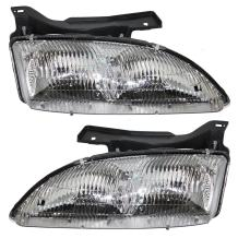 Aftermarket Replacement Driver and Passenger Set Headlights Compatible with 1995-1999 Cavalier 16523441 16523442