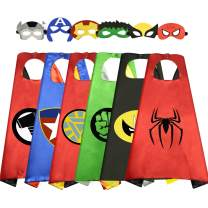 Birthday Presents Gifts for 3-10 Year Old Boys Girls, Easony Fun Cool Cartoon Superhero Satin Capes Dress up for Kids Party Favor Toys for 3-10 Year Old Boys Girls Xmas Gifts Age 3-10 Stocking Fillers