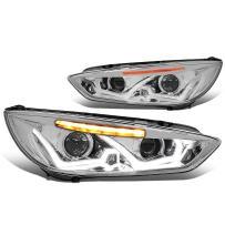 DNA MOTORING HL-HPL-LED-FF16-CH-AM Headlight Assembly (Driver And Passenger Side)