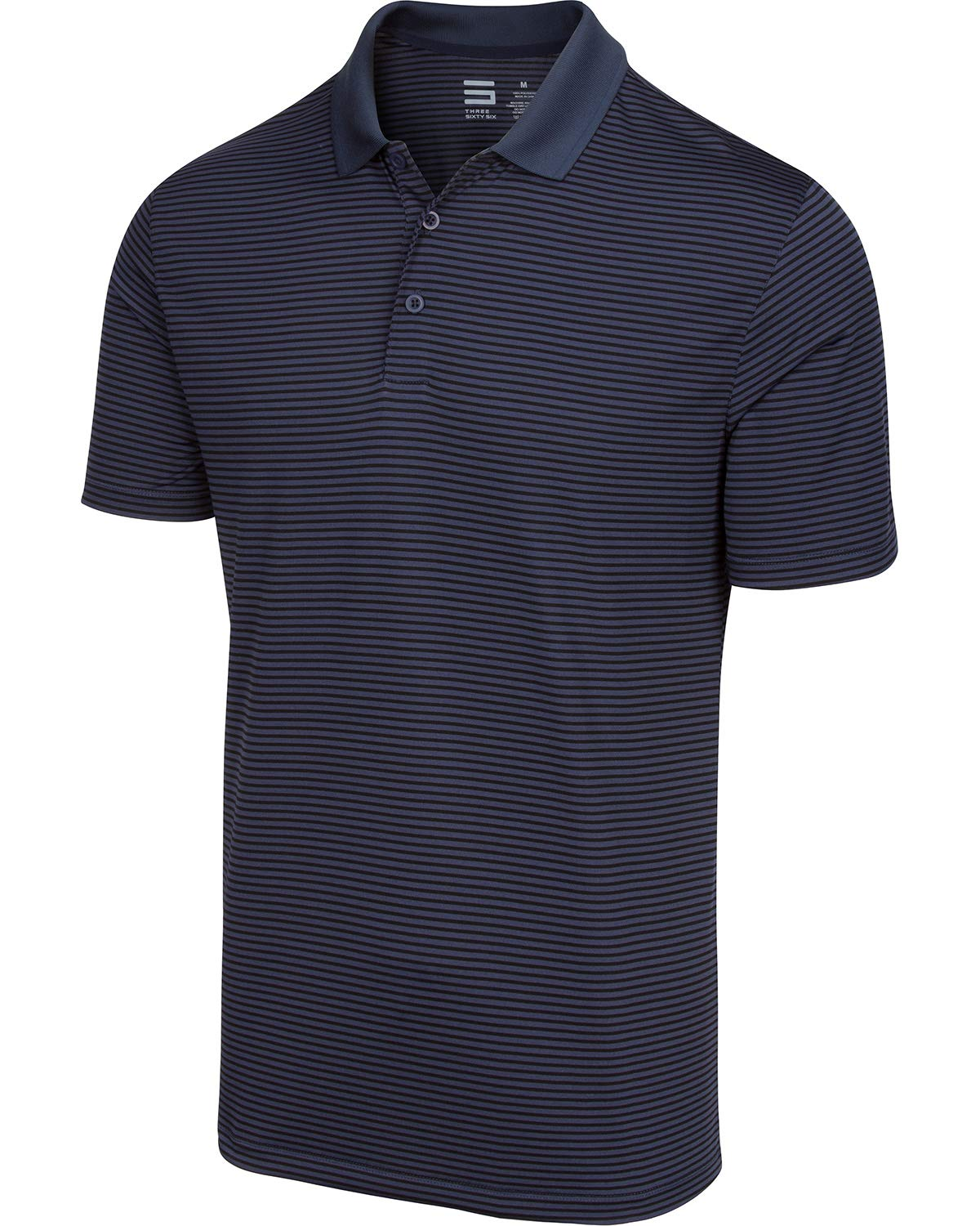 Dry Fit Golf Shirts for Men - Short Sleeve Mens Stripe Polo Shirt