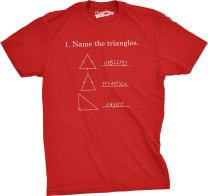 Mens Name The Triangles Funny Math T Shirt Sarcasm Novelty I Love Math Graphic