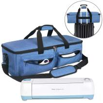 Luxja Carrying Bag Compatible with Cricut Explore Air and Maker, Tote Bag Compatible with Cricut Explore Air, Silhouette Cameo 4 and Supplies (Bag Only, Patent Pending), Blue