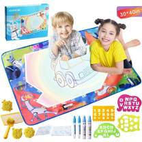 YAMYONE Toddler Toys Drawing Mat -Space Water Drawing Mat Aqua Magic Doodle Mat Drawing Pad 40'x30' Painting Writing Board Toy Clawing Mat Educational Kids Gifts for Boys Girls Aged 2 3 4 5 6+
