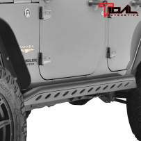 Tidal Tubular Side Armor Rocker Guard Rock Sliders Nerf Bars Fit for 07-18 Jeep Wrangler JK 4 Door