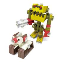 PIPEROID DIY Paper Craft Kit Penk & Goriborg Professor & His Robot - Japanese Arts and Craft Kit for Kids and Adults - Birthday Gift and Party Favor for 3D Puzzle and Origami Paper Craft Enthusiasts