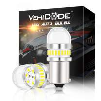 VehiCode 12V Natural White 1156 LED Light Bulb (Bright Daylight) Kit 7506 1141 93 P21W BA15S Single Contact Replacement for Car Reverse Backup DRL, RV Camper Porch Interior Vanity Dome Lamp (2 Pack)