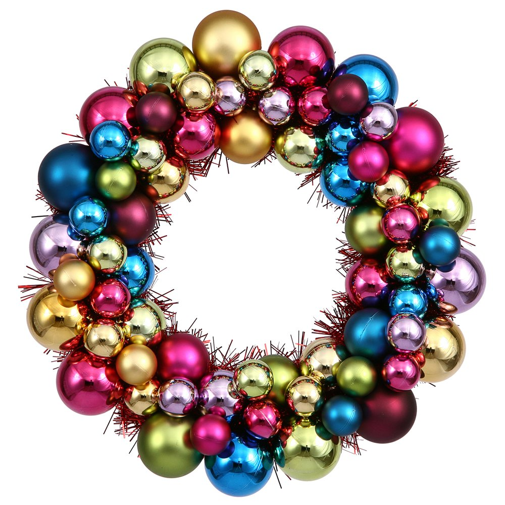 "Vickerman 12"" Multi Colored Ball Wreath"