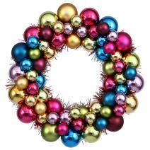 """Vickerman 12"""" Multi Colored Ball Wreath"""