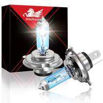 Win Power H4 60W 55W High Brightness Halogen Headlight Bulb 9003 HB2 Motorcycle Light Replacement 5500K,Pack of 2
