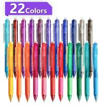 Vanstek 22 Colors Retractable Erasable Gel Pens Clicker, Fine Point(0.7), Make Mistakes Disappear, Premium Comfort Grip for Drawing Writing Planner and Crossword Puzzles
