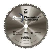 """Mercer Industries 721202 Steel Thunder 80 Tooth Carbide Chop Saw Blade for Thin Mild Steel, 12"""" x 1"""""""
