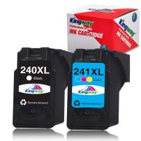 Kingway Remanufactured Ink Cartridge Replacement for Canon PG-240XL CL-241XL 240 XL 241 XL for Pixma MG3620 TS5120 MX532 MG2120 MG3520 MX452 MX512 MX472 MG3220 Ink Cartridge (1 Black, 1 Color, 2 Pack)