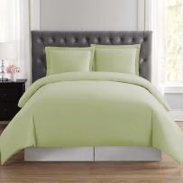 Organic Duvet Cover Cal King Size 350 Thread Count, GOTS Certified Cotton - Luxurious Soft Feel