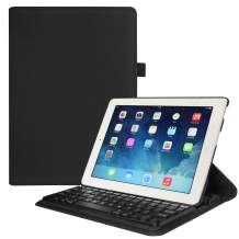 Fintie iPad 4/3/2 Keyboard Case - 360 Degree Rotating Stand Cover with Built-in Wireless Bluetooth Keyboard for iPad 4th Gen with Retina Display, iPad 3 & iPad 2, Black