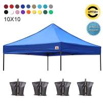 ABCCANOPY Pop Up Canopy Replacement Top Cover 100% Waterproof Choose 18+ Colors, Bonus 4 x Weight Bags (Royal Blue)