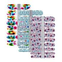 BornBeauty 3 Sheets Nail Art Wraps Polish Decal Strips Adhesive Shine Nail Art Stickers Manicure Kits For Women Girls
