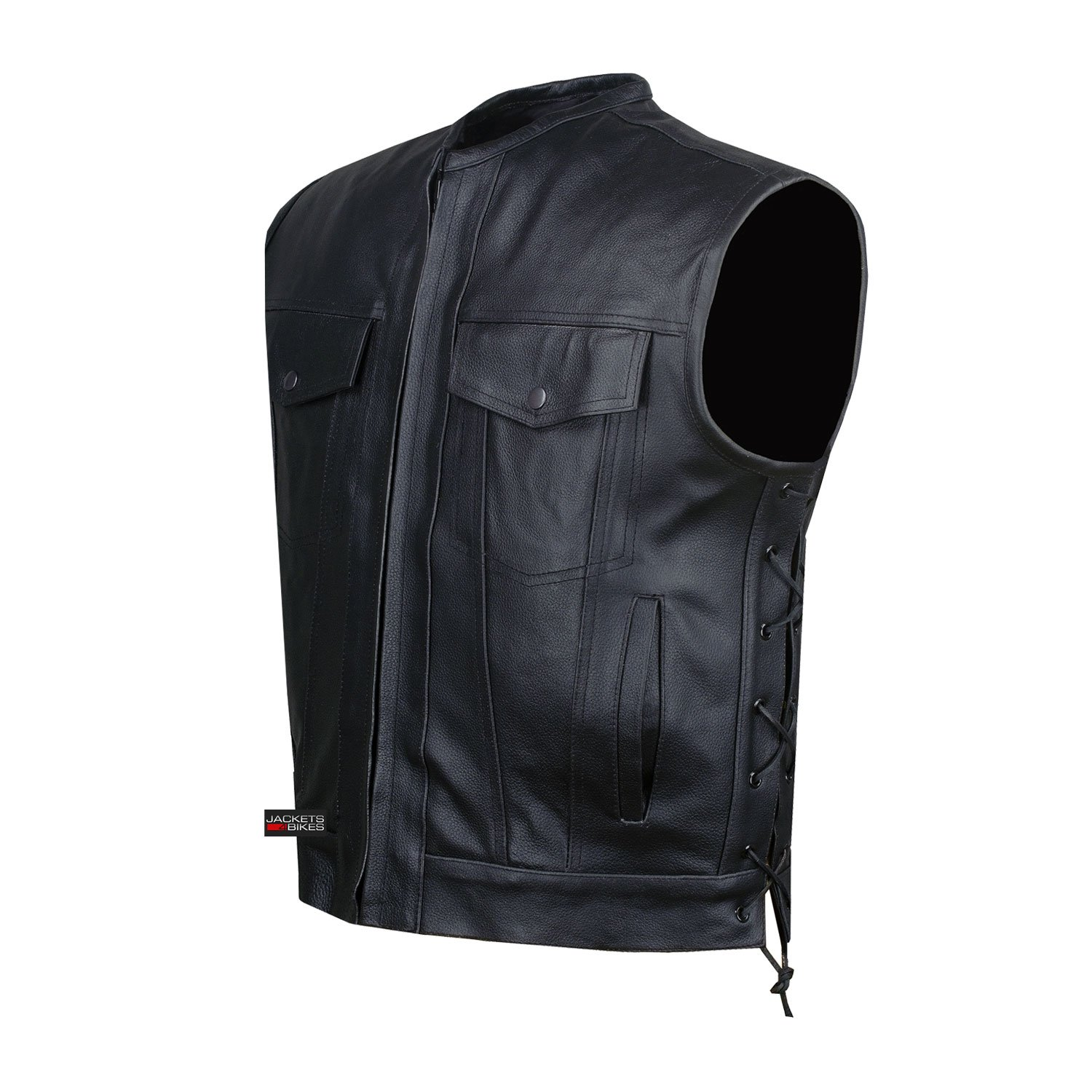 SOA Motorcycle Sons of Anarchy ARMOR Leather Open Collar Club Biker Vest M
