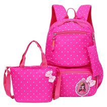 JiaYou Girls Cute Lunch Bag Purse/Pencil Bag School Backpack 3 Sets(20L,4# Rose)