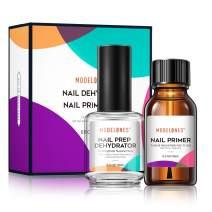 Modelones Professional Natural Nail Prep Dehydrate & Bond Primer, Nail Protein Bond, Superior Bonding Primer for Acrylic Powder and Gel Nail Polish 0.5 oz
